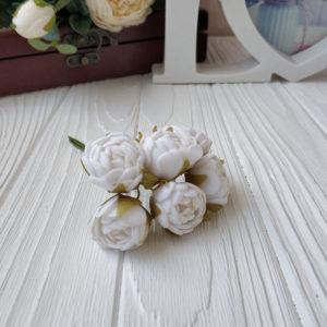 букет бутон розы фом белый