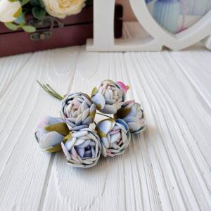 букет бутон розы фом голубой