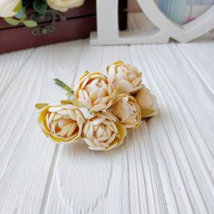 букет бутон розы фом кремовый