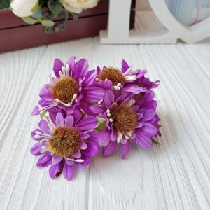 букет герберы ткань фиолетовый