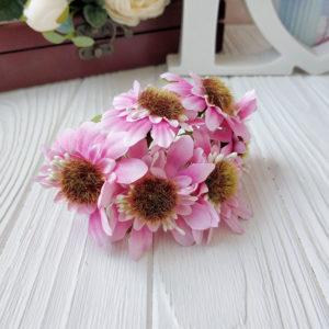 букет герберы ткань розовый