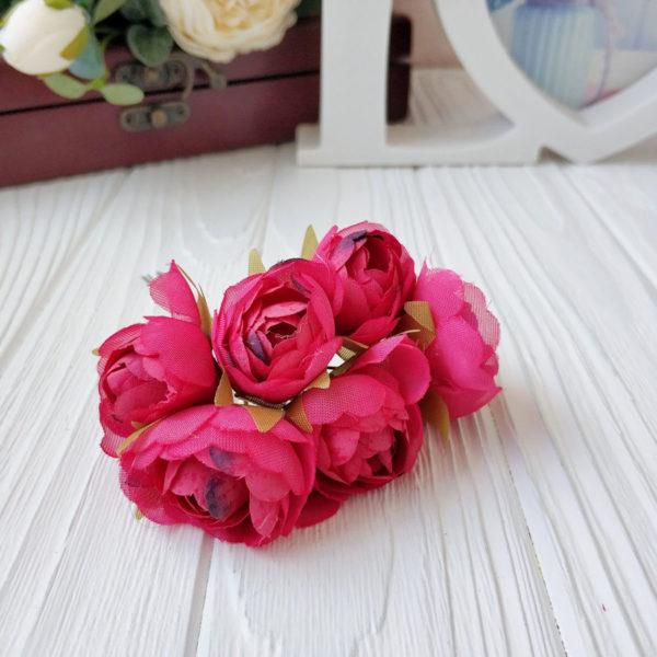 букет пионовид роза ткань малиновый