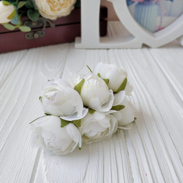 букет пионовид роза ткань молочный