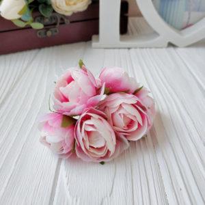 букет пионовид роза ткань розово-малиновый