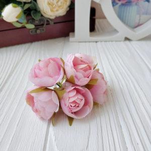 букет пионовид роза ткань розовый