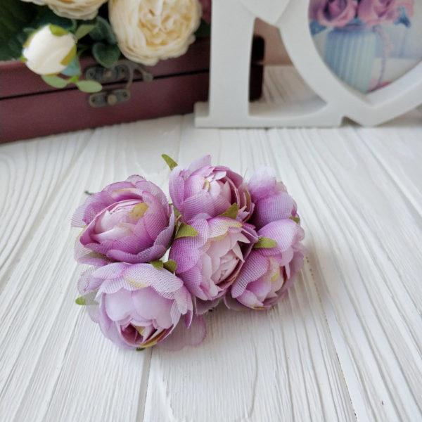 букет пионовид роза ткань сиреневый