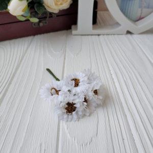 букет ромашки ткань белый