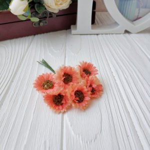букет ромашки ткань персиковый