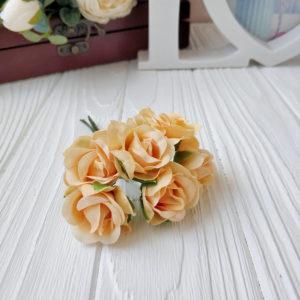 букет розы ткань абрикосовый