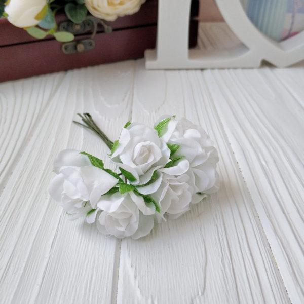 букет розы ткань белый