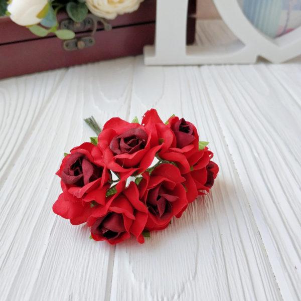 букет розы ткань красный
