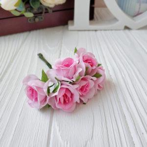 букет розы ткань розовый