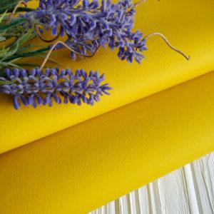 экокожа желтая матовая