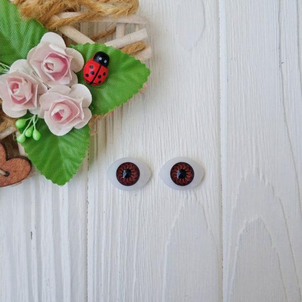 глаза пластик карий 19-14