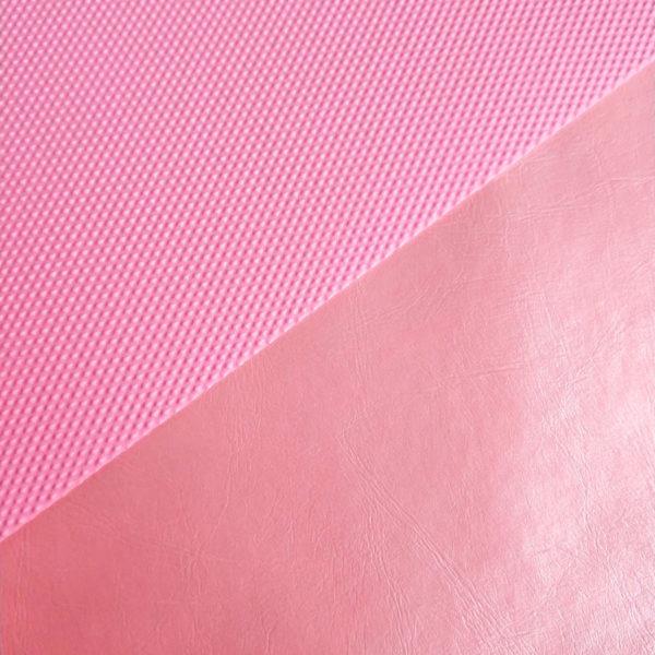 кожзам перламутровый розовый с кантом
