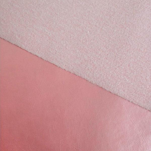 кожзам перламутровый розовый подложка