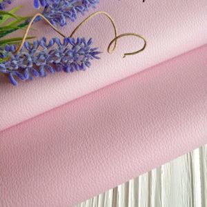 кожзам светло-розовый матовый
