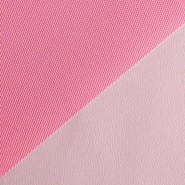 кожзам светло-розовый матовый с кантом