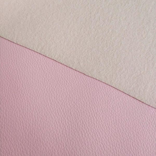 кожзам светло-розовый матовый подложка