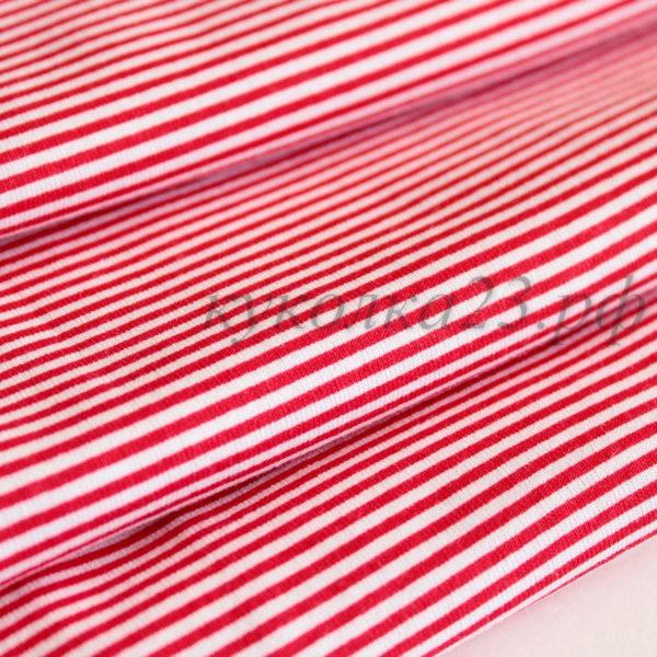 трикотаж полоска бело-красная
