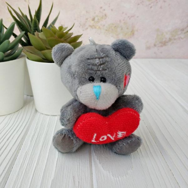 мишка тедди 8см с сердцем
