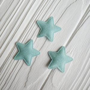 патч звезда глиттер голубой