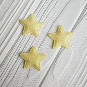 патч звезда глиттер лимон