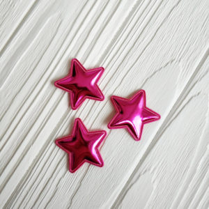 патч звезда хром малиновый