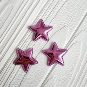 патч звезда хром сиреневый