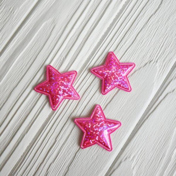 патч звезда ярко-розовый