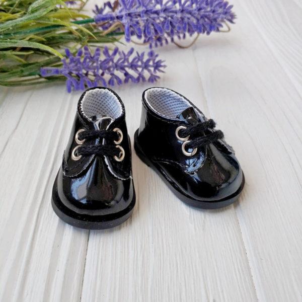 ботинки 5,5см лаковые черные