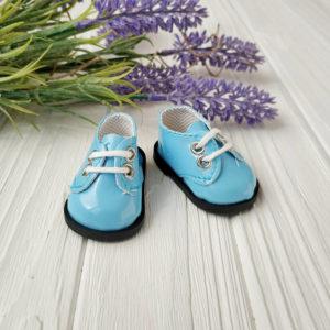 ботинки 5,5см лаковые голубые