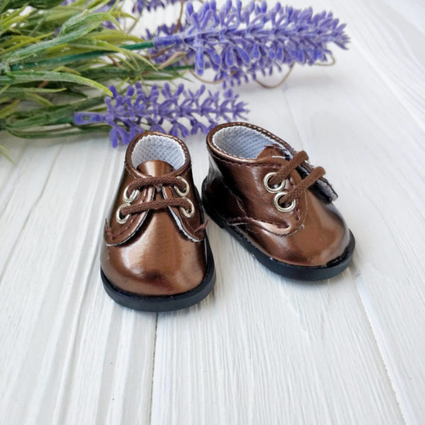 ботинки 5,5см лаковые коричневые