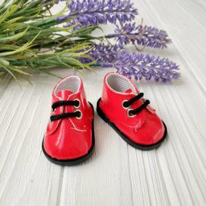 ботинки 5,5см лаковые красные