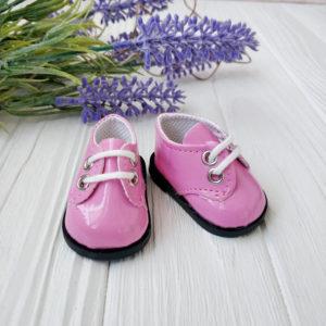 ботинки 5,5см лаковые розовые