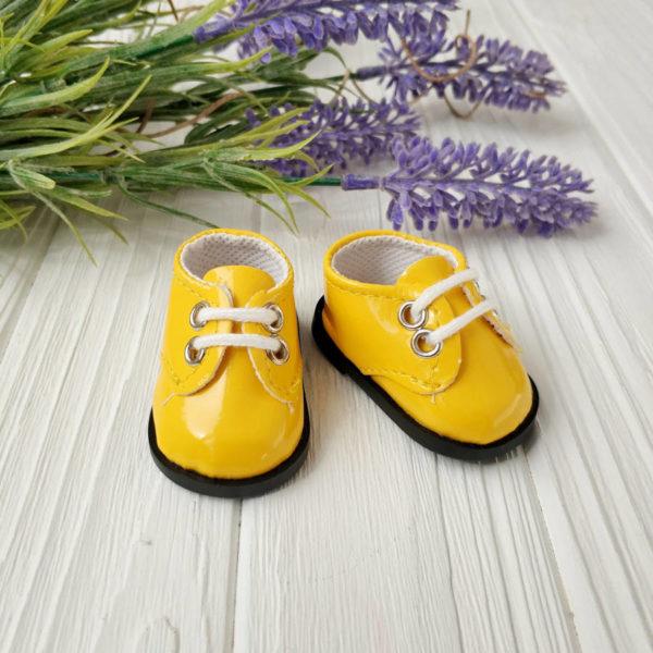 ботинки 5,5см лаковые желтые