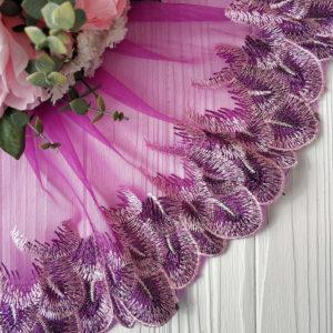 кружево перья фиолетовый с сиреневым2