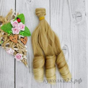 трессы прямые с локоном 20см русый блондин омбре №02
