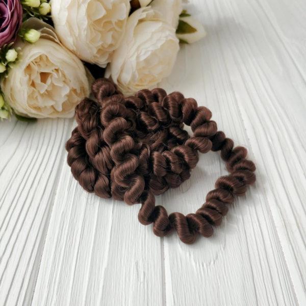 волосы кудряшки горький шоколад