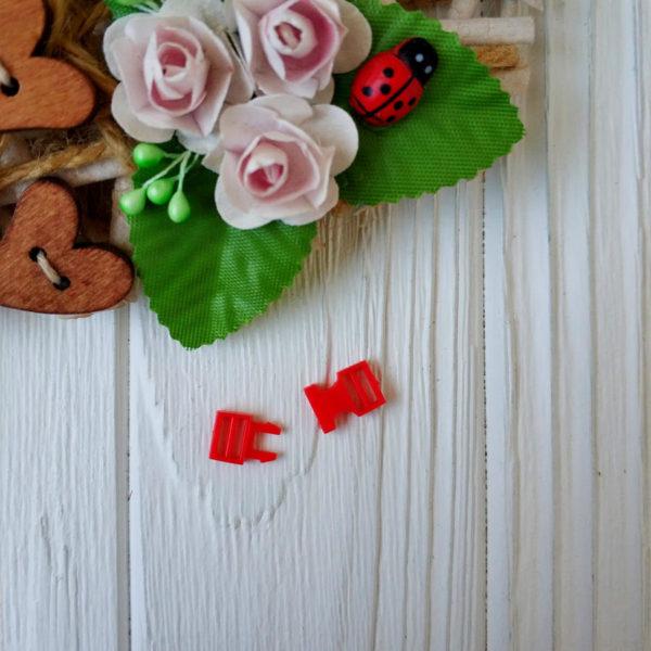 застежка пластик красный