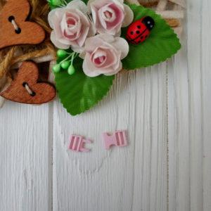 застежка пластик светло-розовый