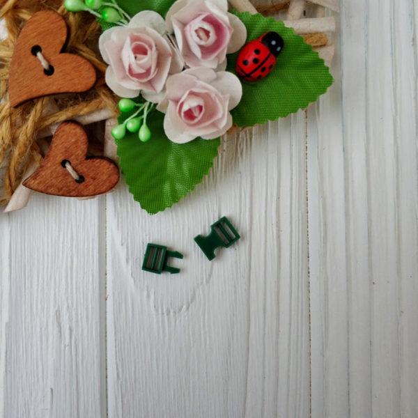 застежка пластик зеленый