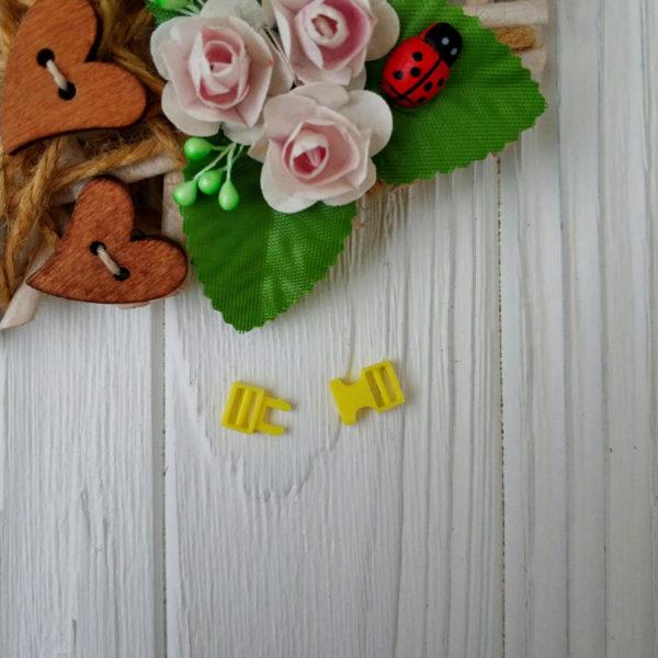 застежка пластик желтый