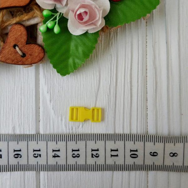 застежка пластик желтый с линейкой