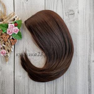 парик для кукол горький шоколад №6