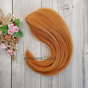 парик для кукол рыжий №144В