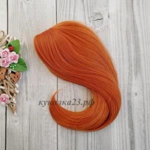 парик для кукол ярко-рыжий №Т2735