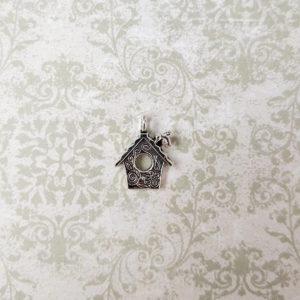 подвеска скворечник серебро