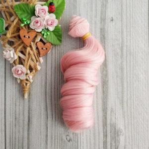трессы локон 15см розовый №Т2333