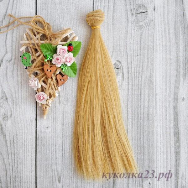 трессы прямые 25см мелирование солома/блонд №406